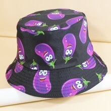 Cartoon Graphic Reversible Bucket Hat