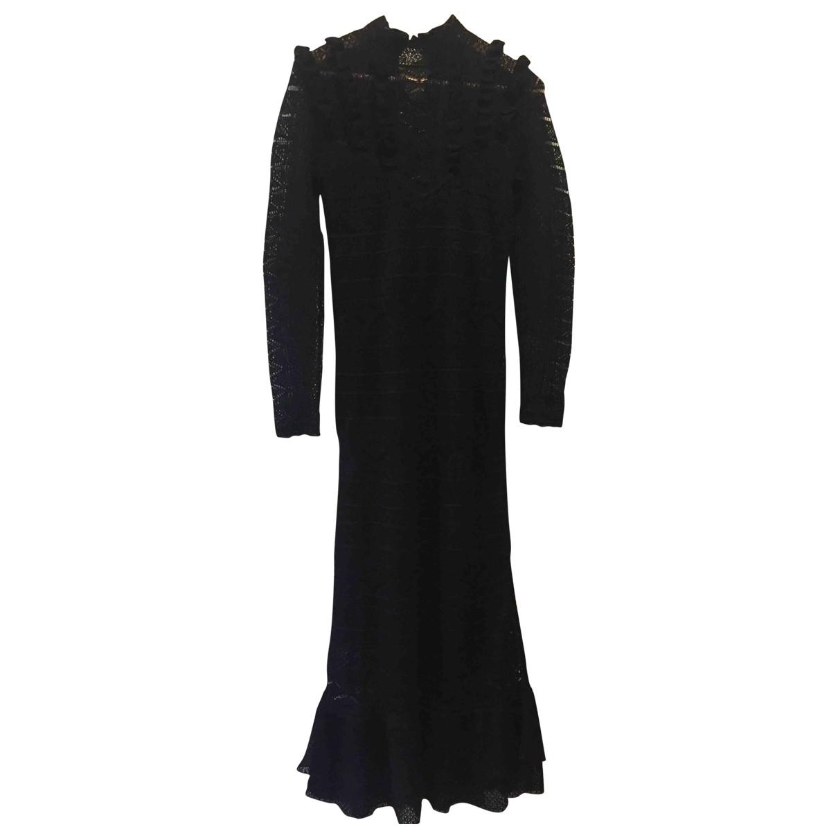 Polo Ralph Lauren \N Black Cotton - elasthane dress for Women XS International