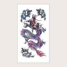 1sheet Dragon Pattern Tattoo Sticker