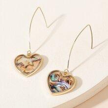Abalone Pattern Drop Earrings