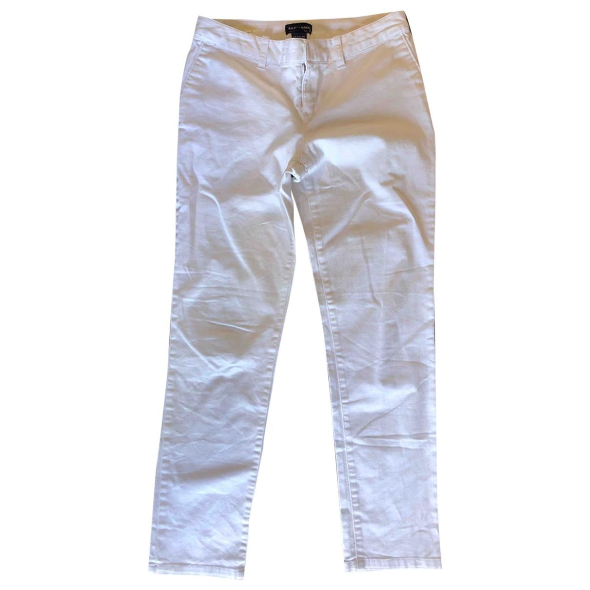 Ralph Lauren \N White Cotton - elasthane Jeans for Women 42 FR