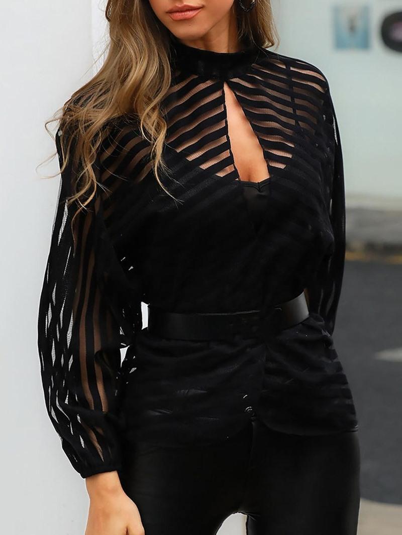 Ericdress Plain Standard Women's Slim Long Sleeve Blouse