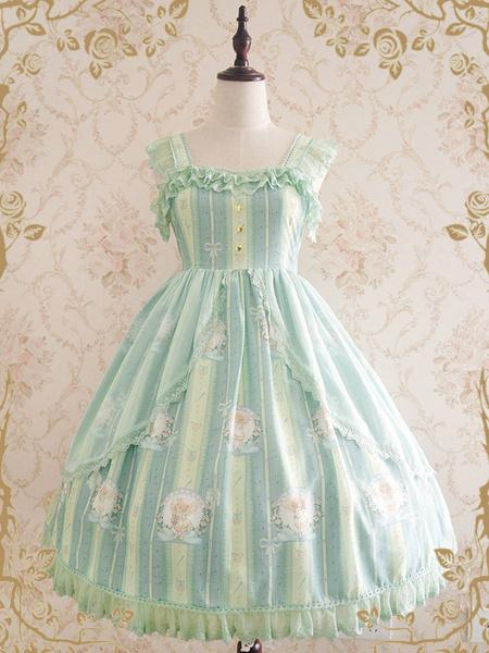 Milanoo Classic Lolita JSK Dress Little Angel Singing A Blessing Poem Bow Ruffle Light Pink Lolita Jumper Skirt