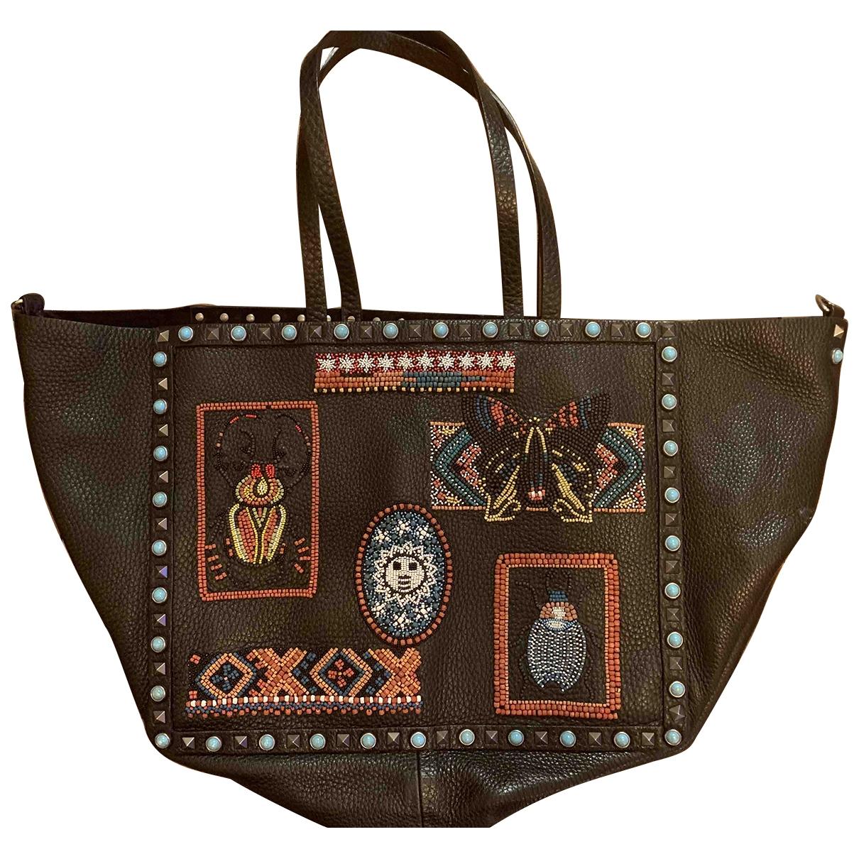 Valentino Garavani Rockstud Brown Leather handbag for Women \N