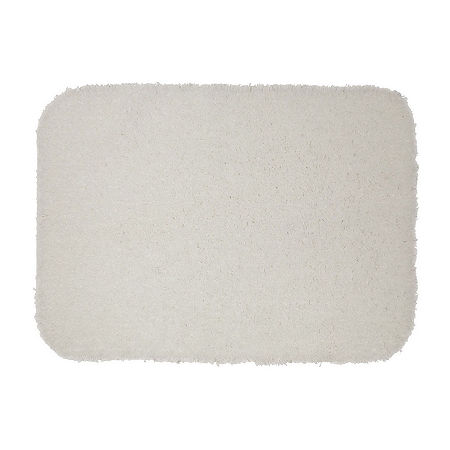 JCPenney Home Quick Dri Ribbed Bath Rug Collection, One Size , White
