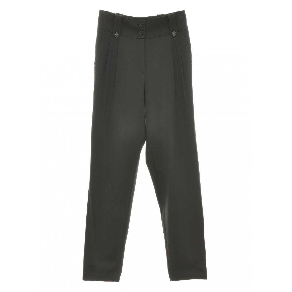 Dior \N Khaki Wool Trousers for Women 40 IT