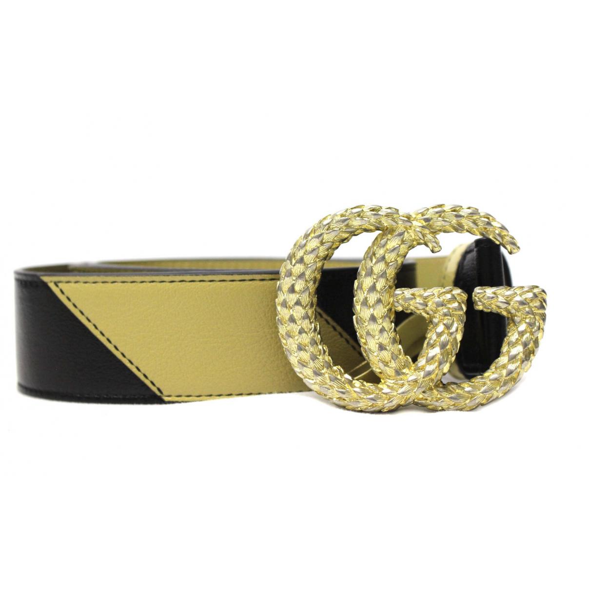 Gucci \N Beige Leather belt for Women 85 cm