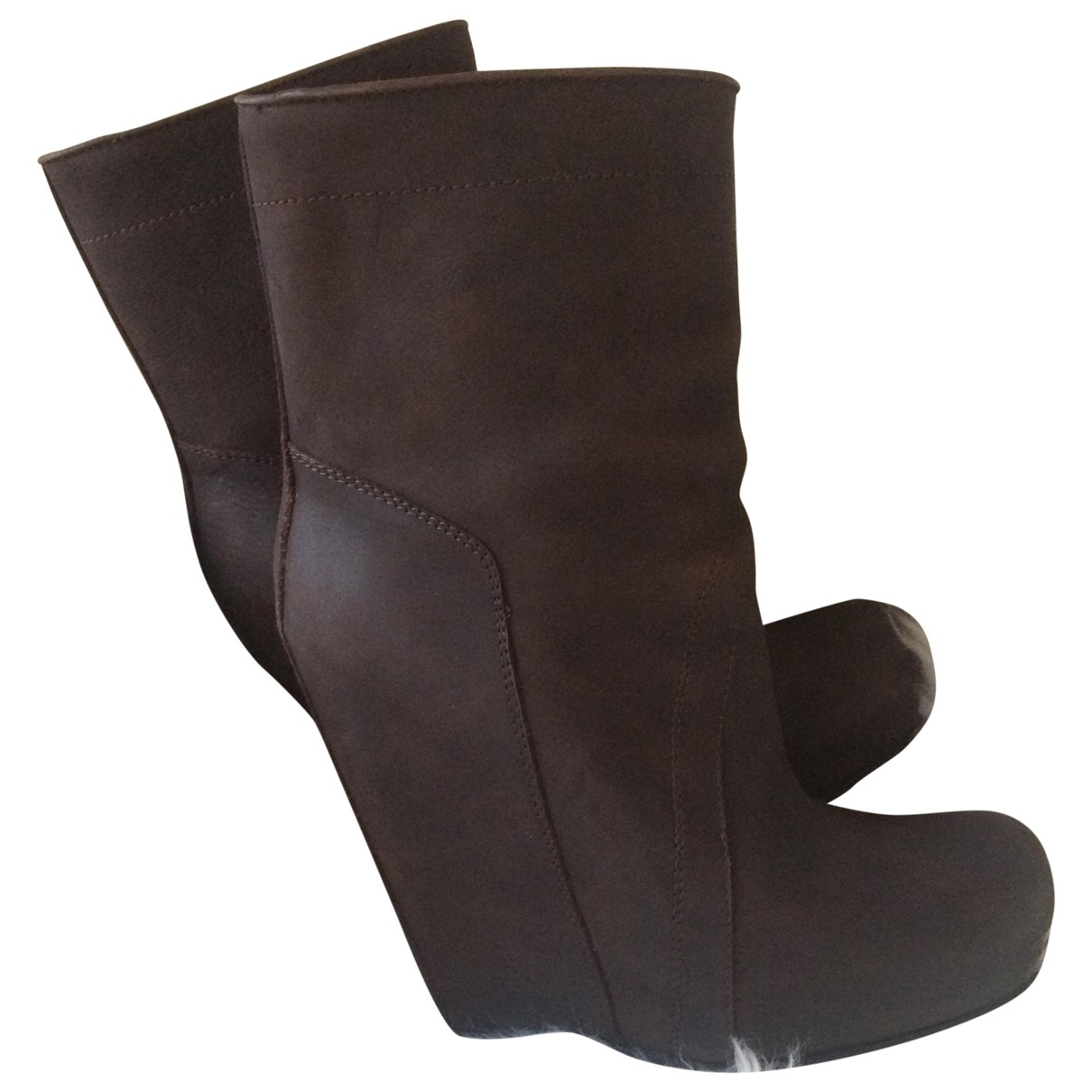 Rick Owens \N Brown Leather Boots for Women 39 EU