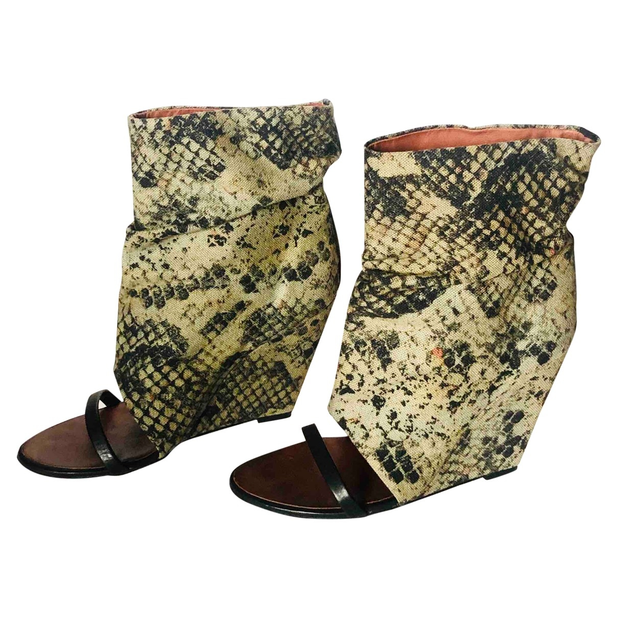 Isabel Marant \N Green Cloth Ankle boots for Women 40 EU