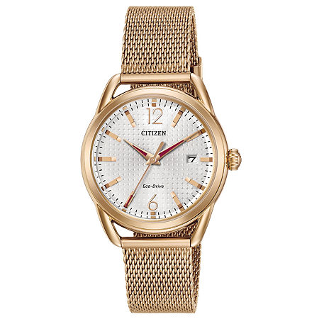 Drive from Citizen Womens Rose Goldtone Stainless Steel Bracelet Watch-Fe6083-72a, One Size , No Color Family