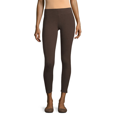 Mixit Solid Knit Leggings, X-small , Brown