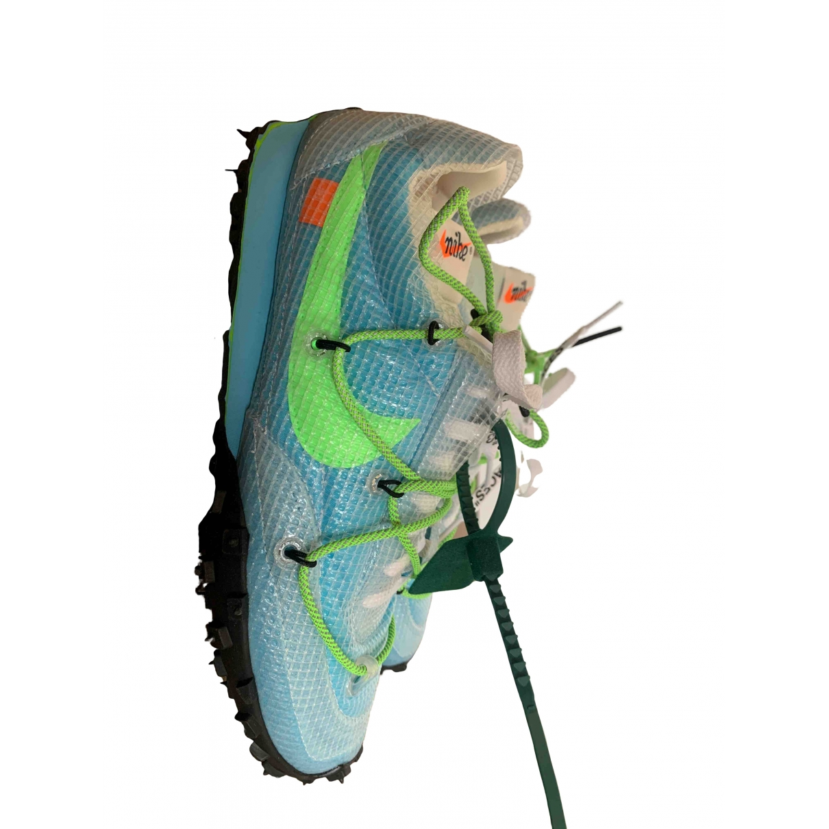 Nike X Off-white Waffle Racer Turquoise Cloth Trainers for Men 42 EU