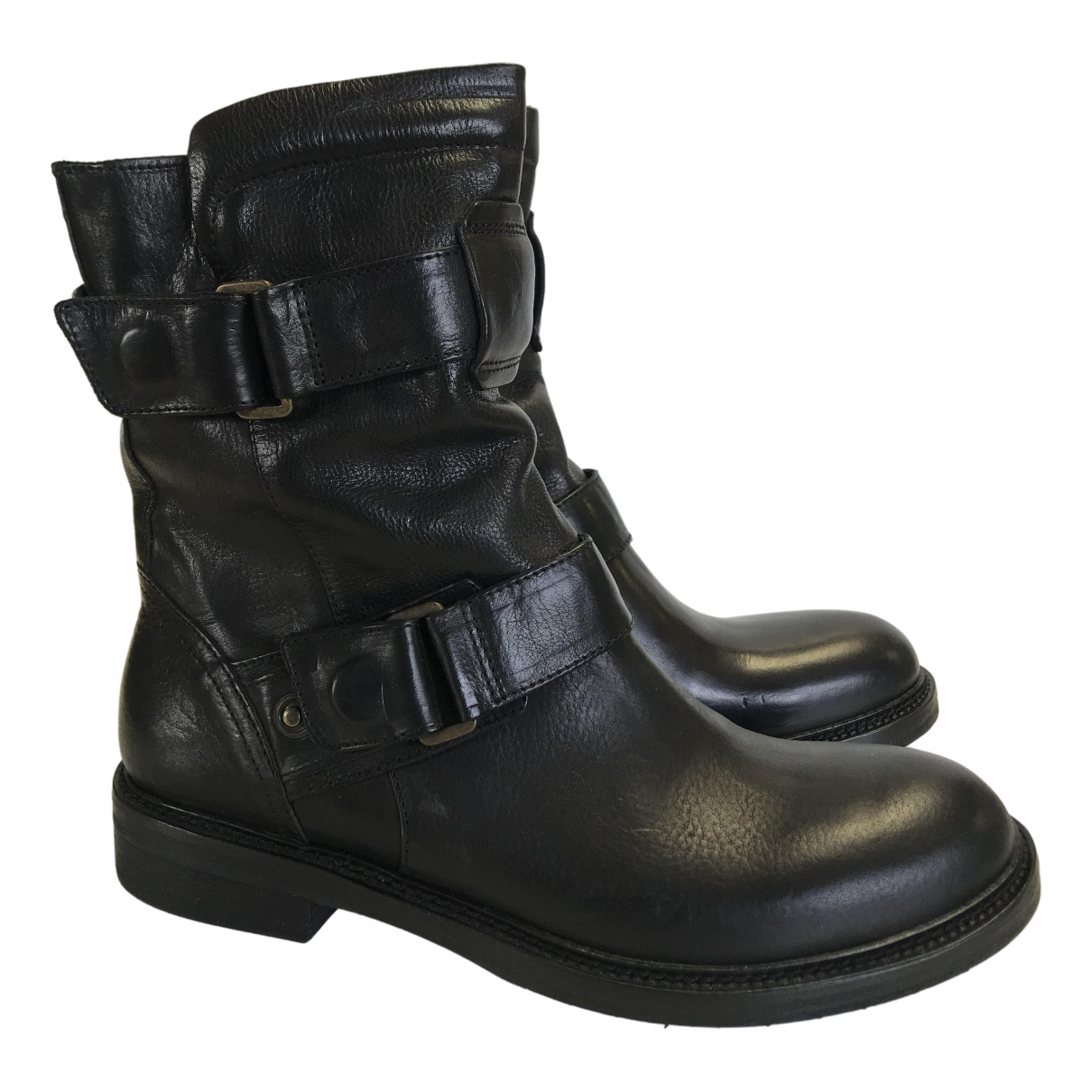 Matchless \N Black Leather Boots for Women 40 EU