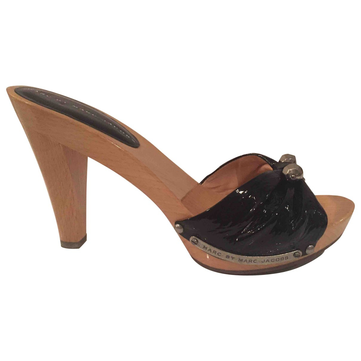 Marc By Marc Jacobs \N Black Patent leather Sandals for Women 39 EU
