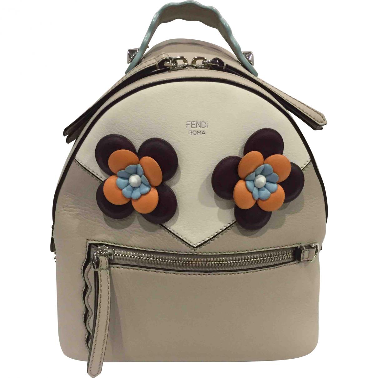 Fendi \N Beige Leather backpack for Women \N