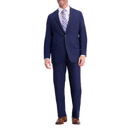 Haggar Active Series Classic Fit Suit Separate Classic Fit Stretch Suit Jacket, 40 Regular, Blue