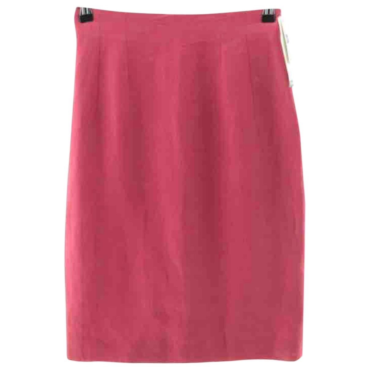 Georges Rech \N Pink Linen skirt for Women 38 FR