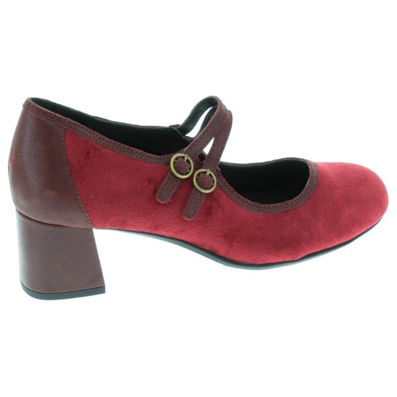 Aetrex Simone Wine Leather High Heel 41