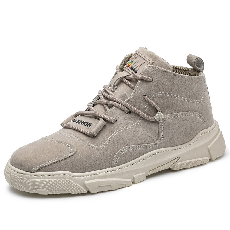 Men Micrfiber Leather High Top Sneaker Lace Up Casual Ankle Boots
