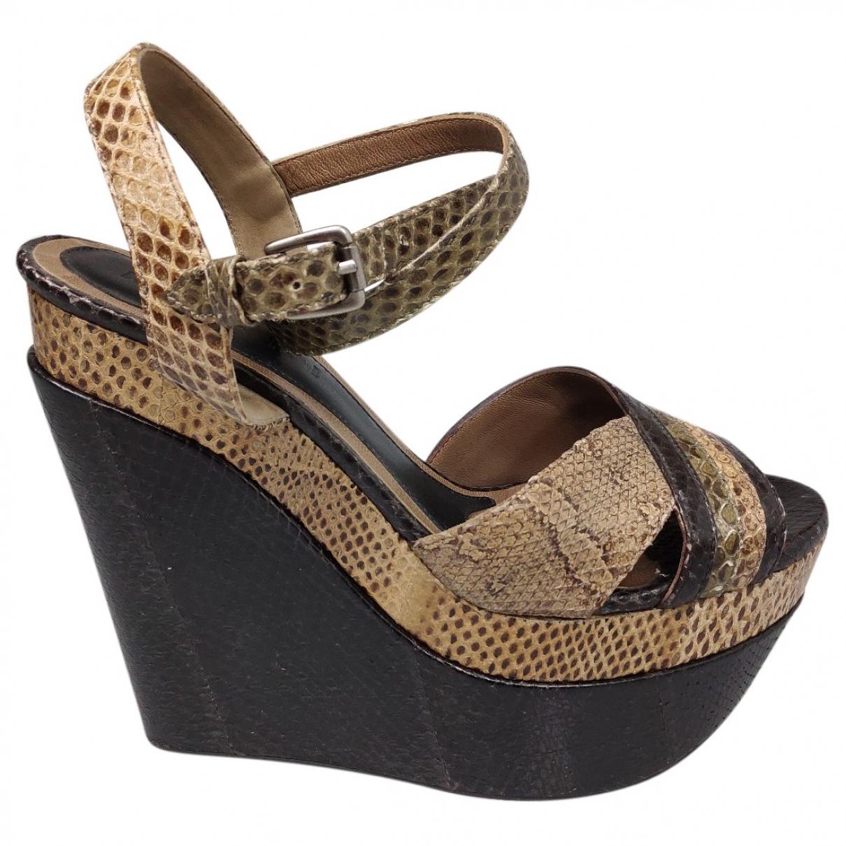 Marni \N Beige Leather Sandals for Women 36 EU