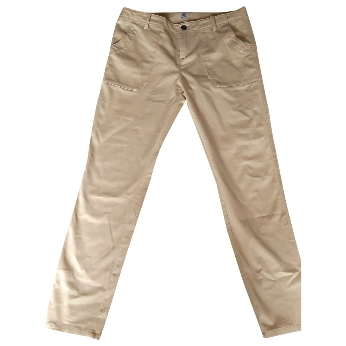 Timberland \N Beige Cotton Trousers for Women 6 US