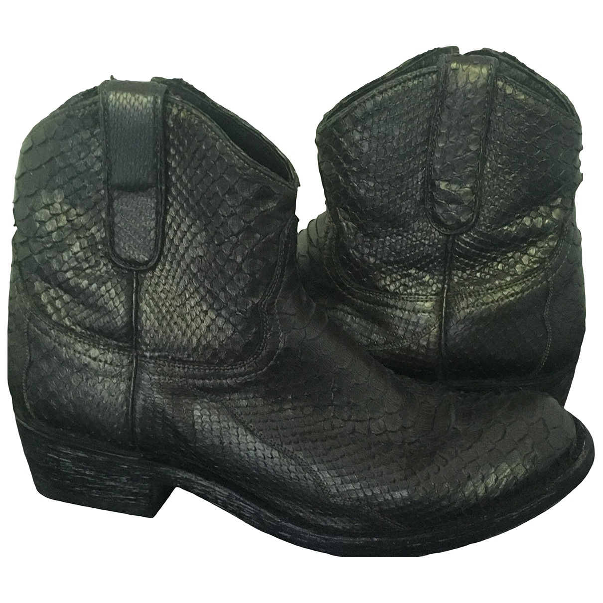 Old Gringo \N Silver Python Boots for Women 39 EU