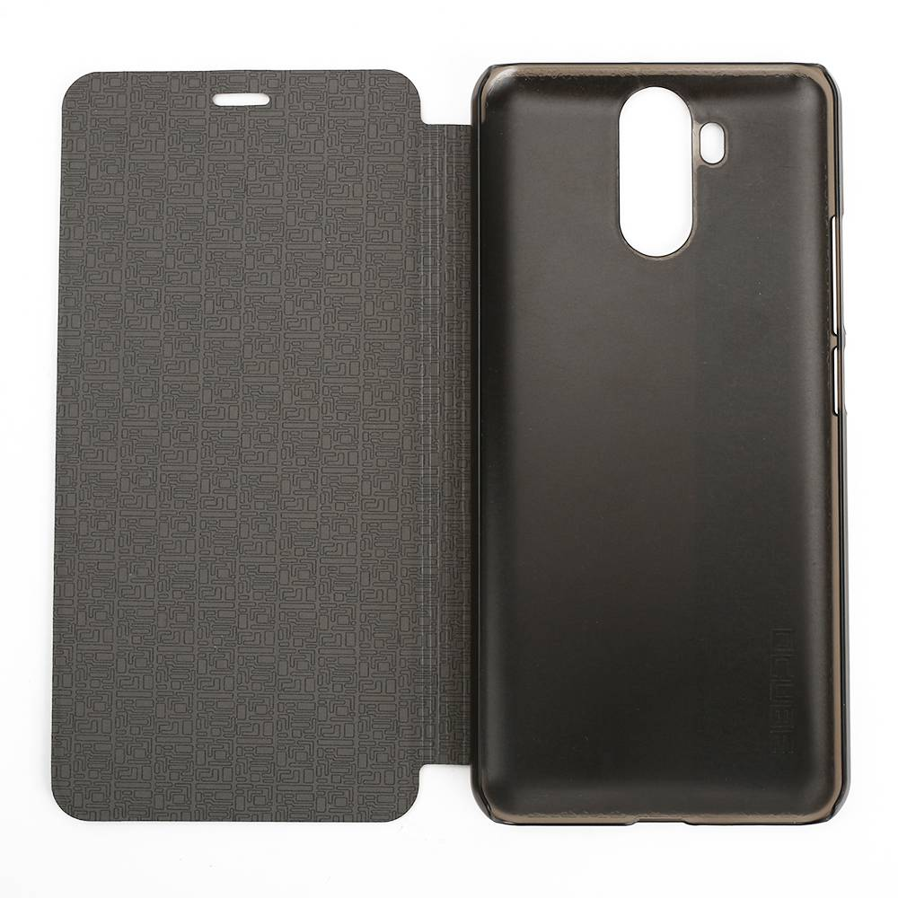 Leather Phone Case Flip Cover For Vernee X Ultra-thin Shockproof Protective Phone Case - Black