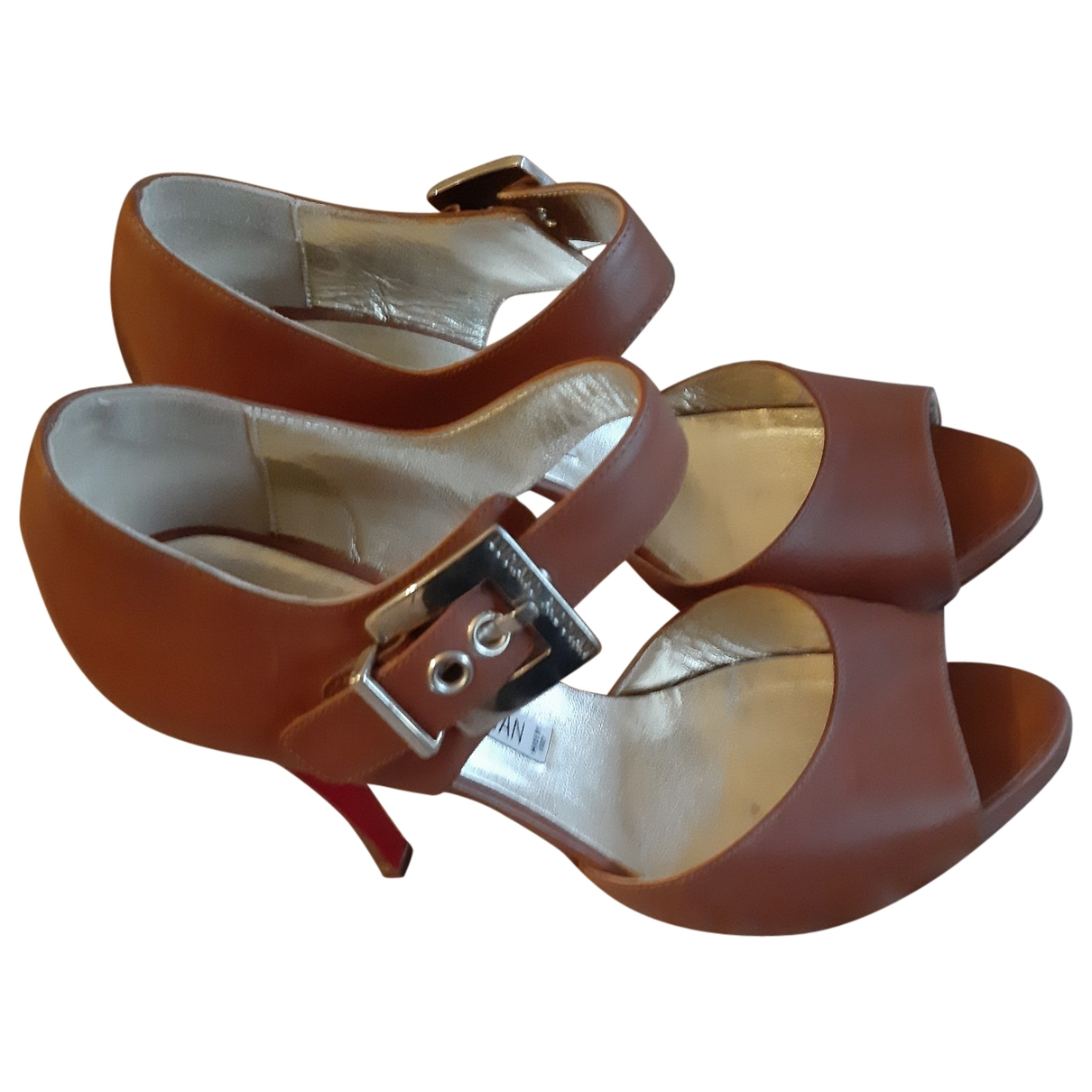 Luciano Padovan \N Brown Leather Heels for Women 39 EU