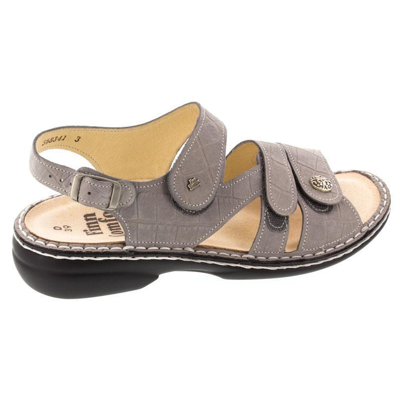 Finn Comfort Gomera Stone Leather Soft Footbed 42