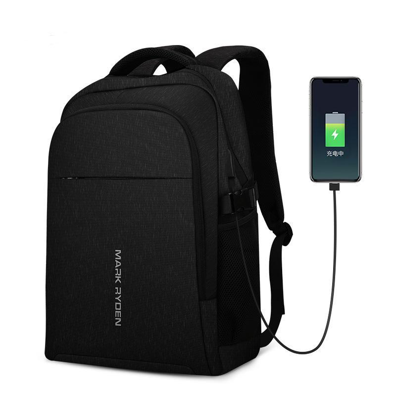 MARK RYDEN MR9191 MultifunctionUSB Charging 15.6 inch Laptop Backpack Two-layer Large Capacity Student Bag
