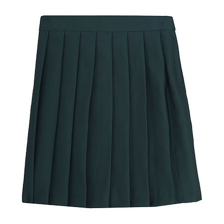 French Toast Little & Big Girls Pleated Skirt, 16.5 Plus , Green