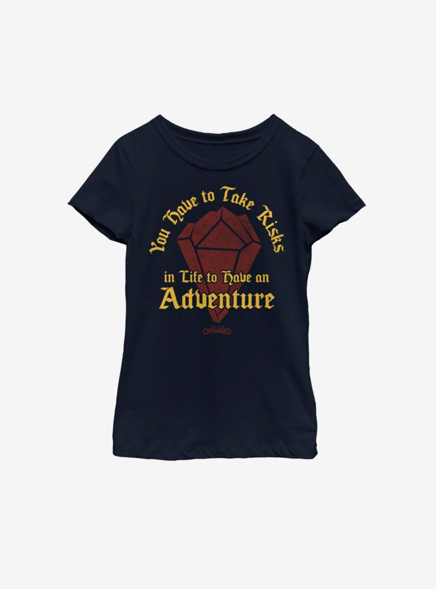 Disney Pixar Onward Risk For Adventure Youth Girls T-Shirt