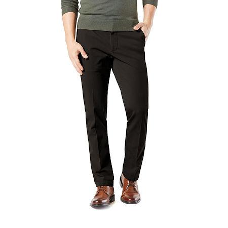 Dockers Men's Straight Fit Workday Khaki Smart 360 Flex Pants D2, 33 32, Black