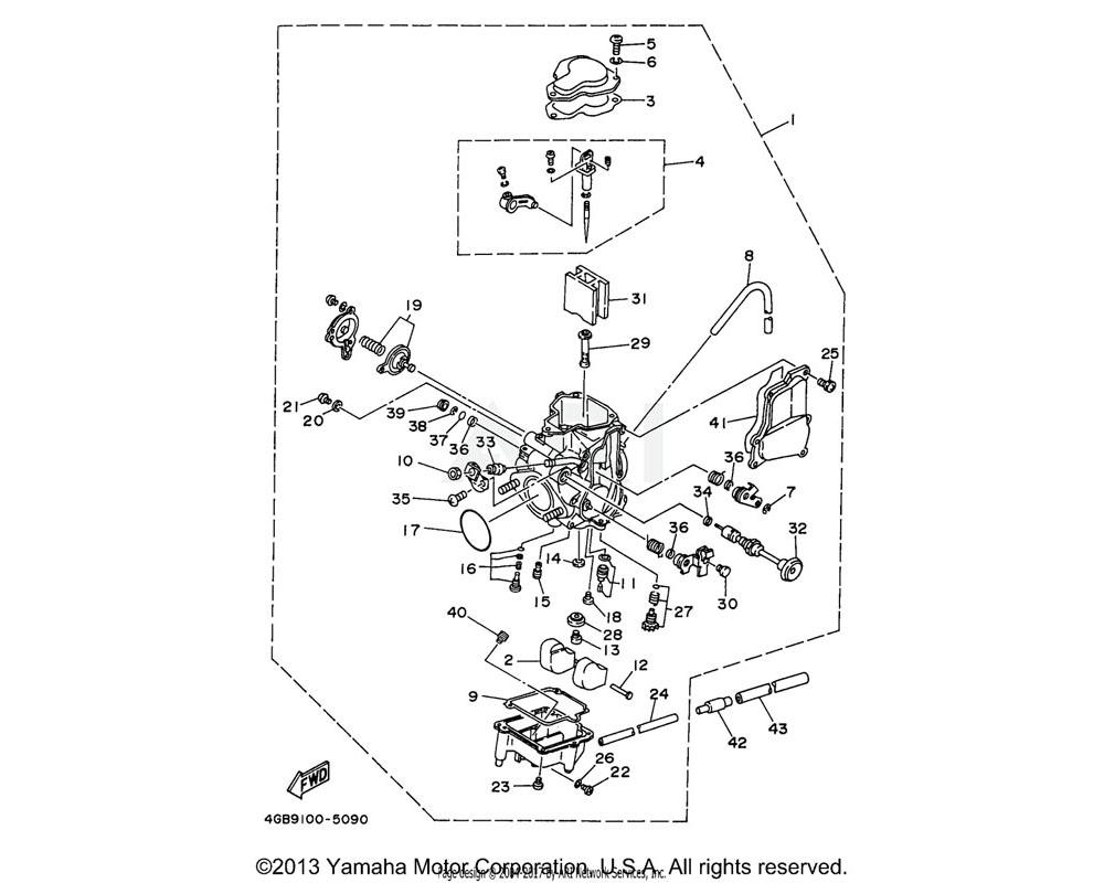 Yamaha OEM 22F-14126-00-00 GASKET