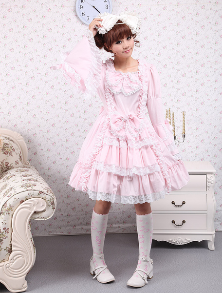 Milanoo Sweet Lolita Dress Princess Of Chacha OP Lolita One Piece Dress
