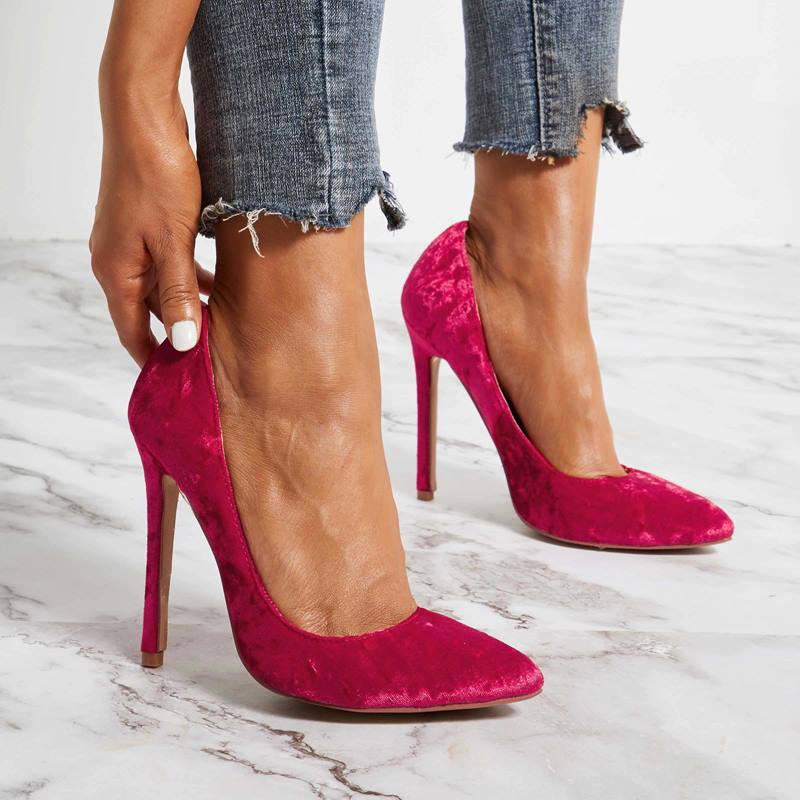 Ericdress Suede Pointed Toe Stiletto Heel Women's Pumps