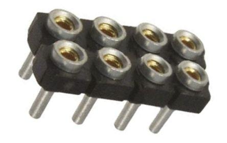 Samtec , SDL 2.54mm Pitch 8 Way 2 Row Straight PCB Socket, Through Hole, Through Hole Termination