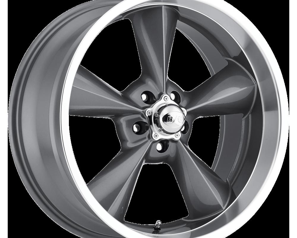 B/G Rod Works Wheels OS 880-5475-00 GML Old School Wheel 18x8 5x120.65 0mm Gun Metal Machined Lip