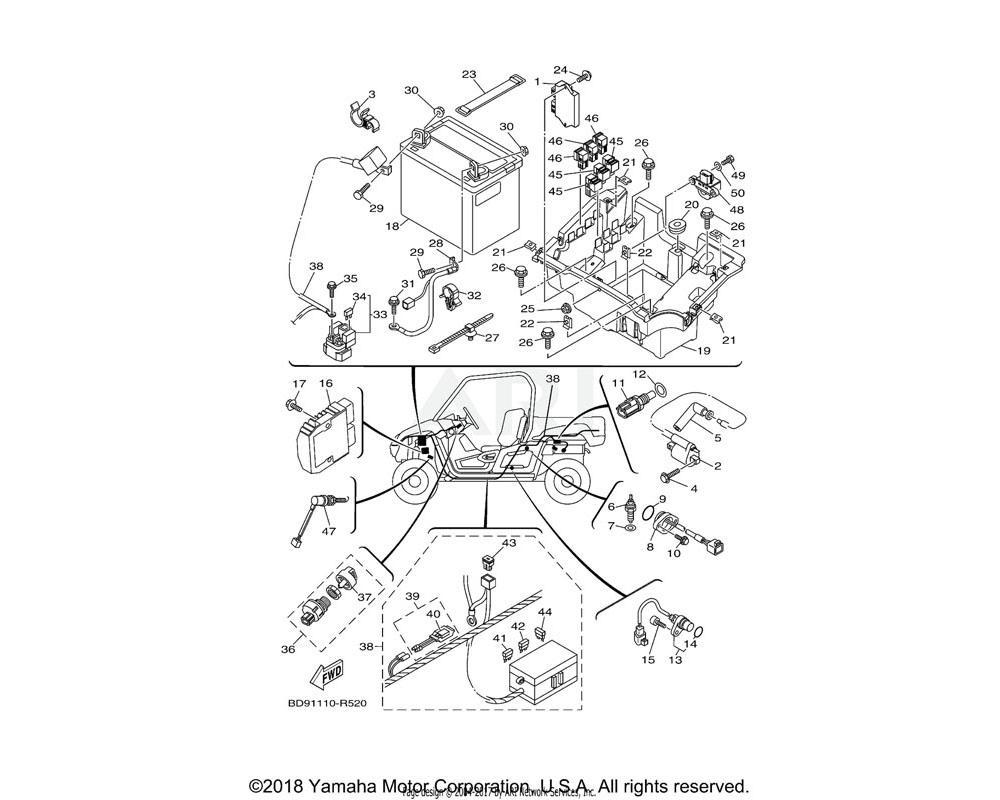 Yamaha OEM 5UG-H2510-00-00 MAIN SWITCH ASSY