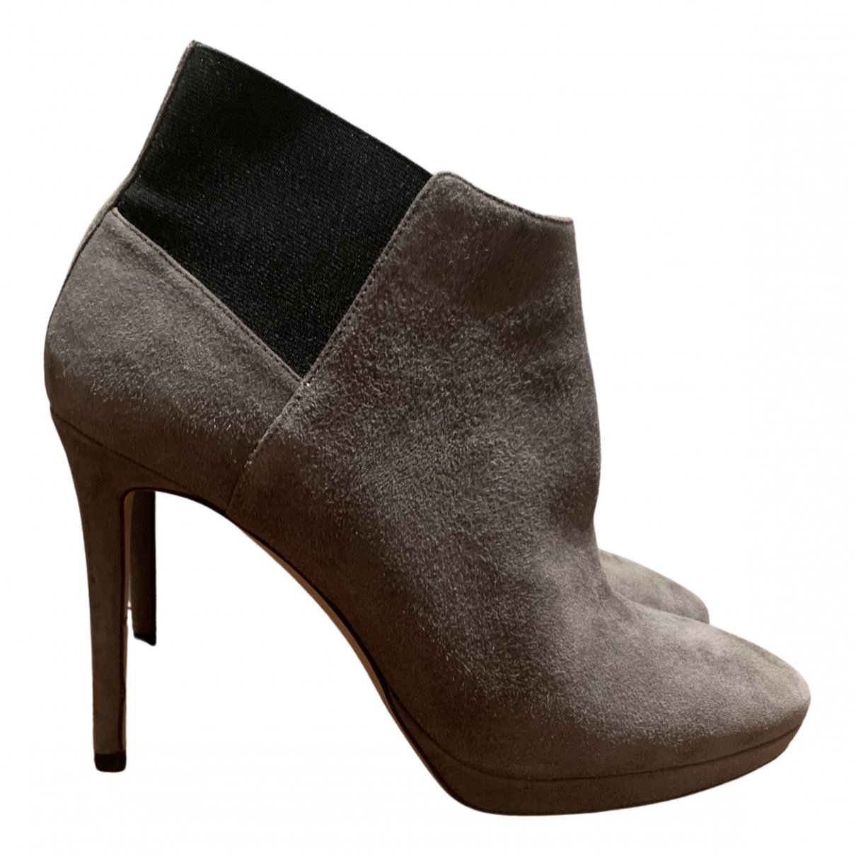 Jimmy Choo \N Grey Suede Ankle boots for Women 38 EU