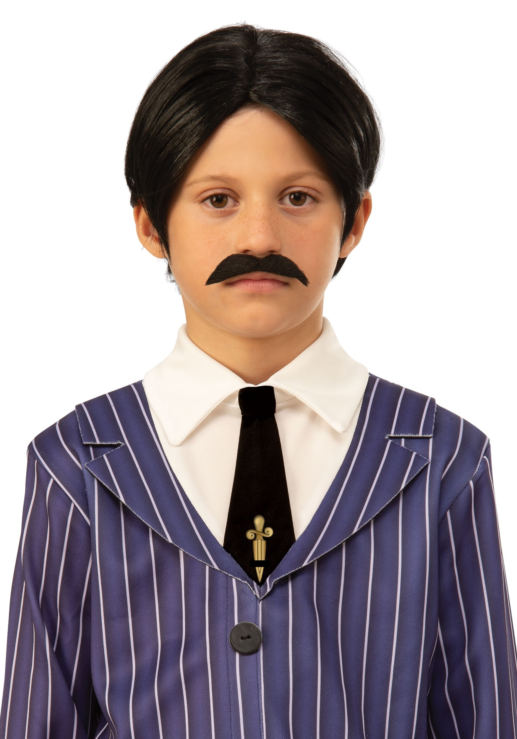 Kids The Addams Family Gomez Wig and Mustache Accessory