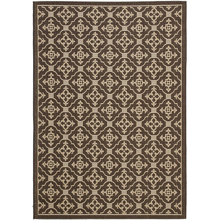 Safavieh Courtyard Collection Kennard Oriental Indoor/Outdoor Area Rug, One Size , Multiple Colors