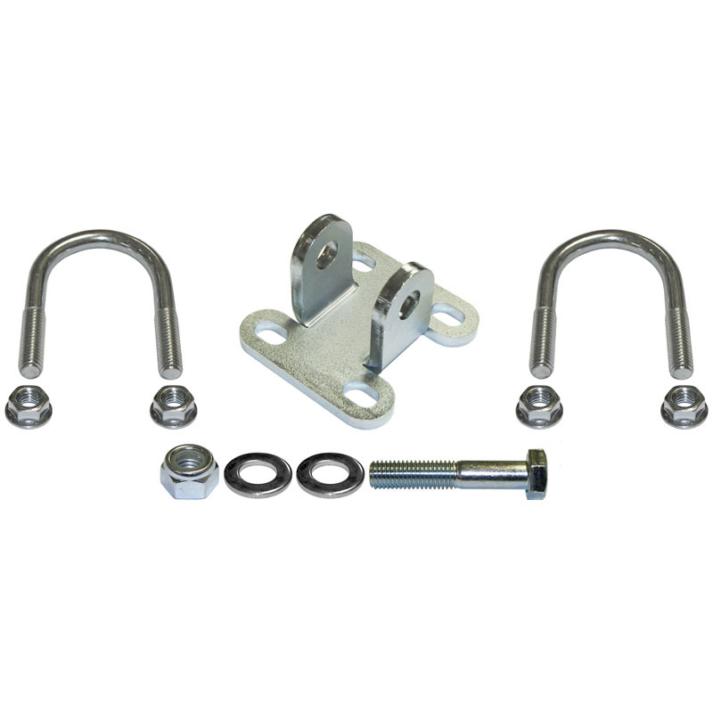 RockJock 4x4 JK-9704SB CURRECTLYNC JK Steering Stabilizer Shock Bracket Kit Fits 1 1/2 Inch Tube