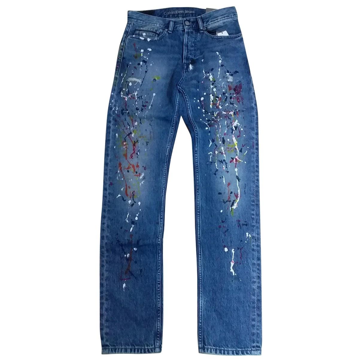 Calvin Klein \N Blue Cotton Trousers for Men 28 UK - US