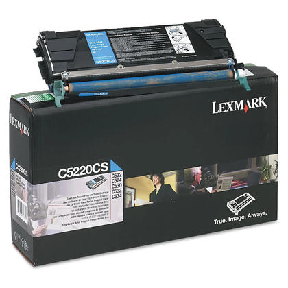 Lexmark C5220CS Original Cyan Return Program Toner Cartridge