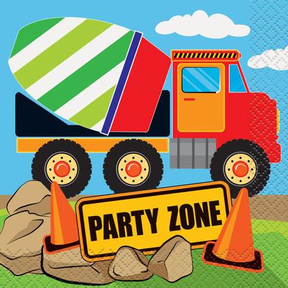 Construction Party Beverage Napkins, 16ct Pour la fête d'anniversaire