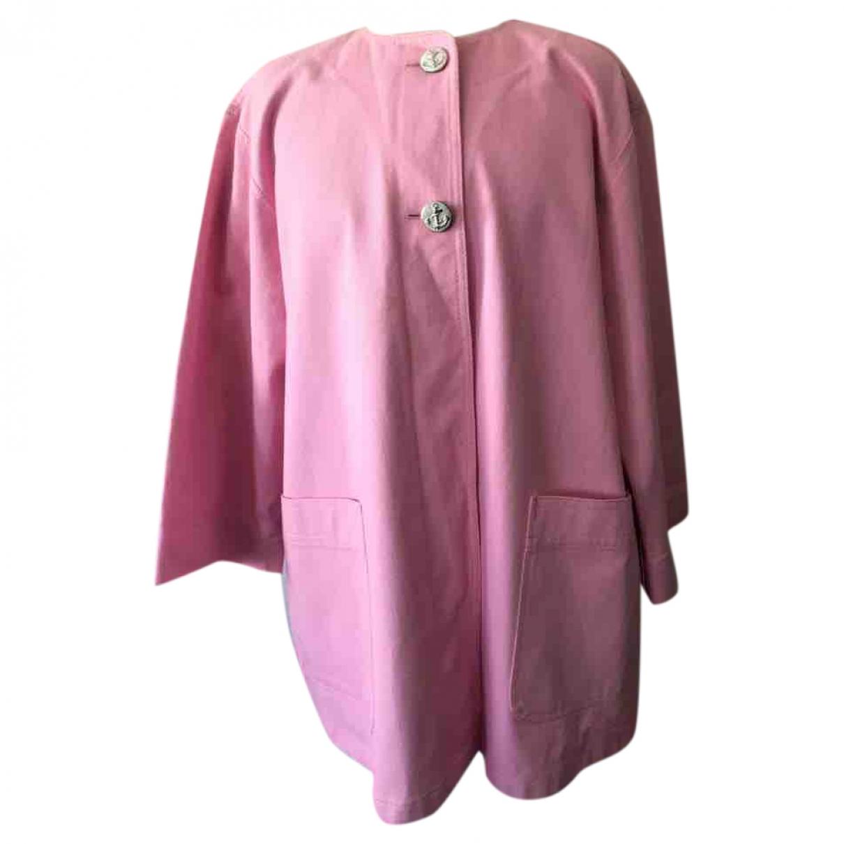 Guy Laroche \N Pink Cotton jacket for Women 38 FR