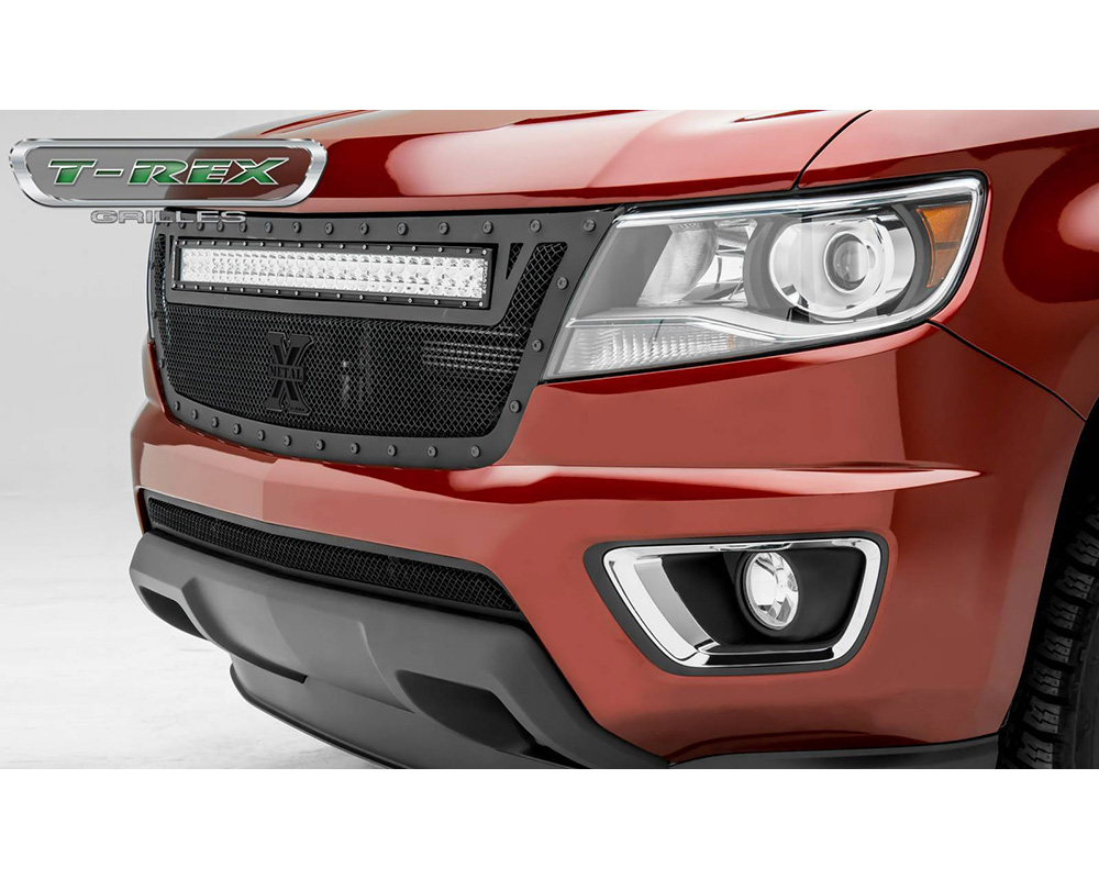 2015-2020 Chev Colorado Stealth Torch Grille, Black, 1 Pc, Replacement, Black Studs, Incl. (1) 30