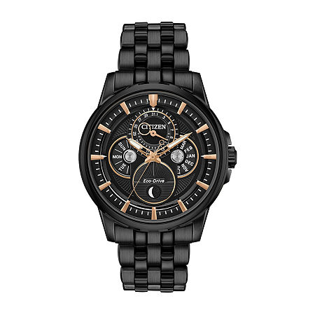 Citizen Calendrier Mens Gray Stainless Steel Bracelet Watch-Bu0057-54e, One Size , No Color Family
