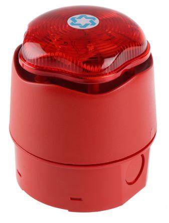 Hosiden Besson Banshee Excel Lite Sounder Beacon 110dB, Red LED, 9 → 30 V dc, IP66